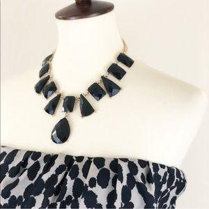 Francesca's Black Stone Statement Necklace